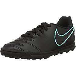 Nike Jr Tiempox Rio III TG, Botas de Fútbol para Niños, Negro (Black/Black), 37 1/2 EU