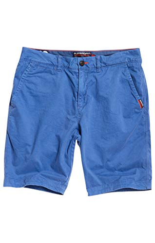 separation shoes ce54c 44f29 Superdry International Slim Chino Lite Short, Bleu (Neptune Blue AKY), 46  FR(Taille du Fabricante:33) Homme