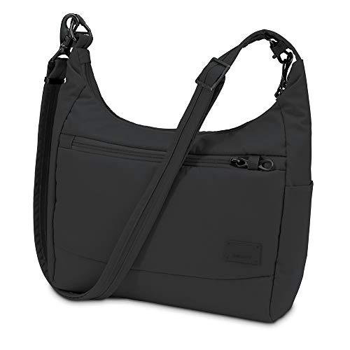 Pacsafe Citysafe CS100 Anti-Diebstahl Nylon Umhängetasche für Damen, Schultertasche mit Diebstahlschutz, Sicherheits-Features - 5L Uni, B...