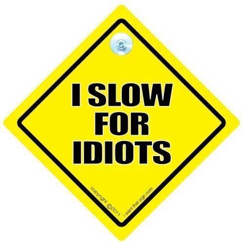 i langsam für verrückte, Auto, Anti-nachlaufen Auto-Schild Schild Baby an, Motor Bord Autoaufkleber, Rückseite Off, Tailgater, Tailgating, Gewalt im Straßenverkehr