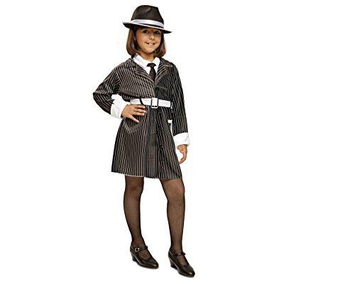 My Other Me Gangster-Kostüm für Mädchen, Gr. 3-4Jahre (viving Costumes mom00493) 10-12 (Kind Mädchen Gangster Kostüm)