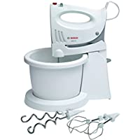 Bosch 350W Hand Mixer With Bowl, Two Stainless Steel Turbo Whisks, White  - MFQ3555GB