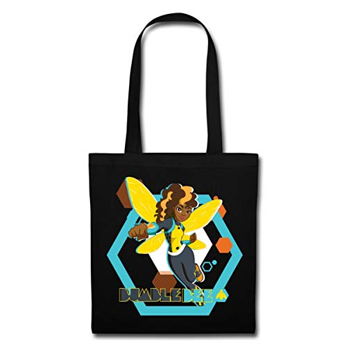 Spreadshirt DC Super Hero Girls Bumblebee Stoffbeutel, Schwarz