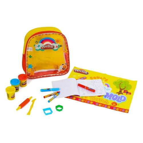 Sambro Playdoh Activity Backpack (Yellow) by Sambro (Mickey Und Minnie Play-doh)