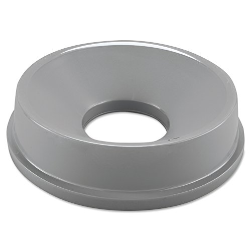 Rubbermaid Commercial HDPE Untouchable Funnel Top for 2947 and 3546 Containers - Grey 3546 Container