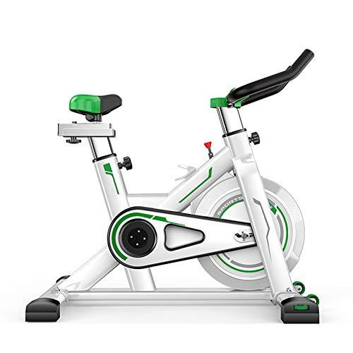KuaiKeSport Heimtrainer Fahrrad für Zuhause,Indoor Cycle mit Intelligente App Elektromagnetisch Spinning Fahrrad,Ergometer Fahrrad Aerobic Übung Verstellbarer Widerstand Tragfähigkeit 200kg,Green