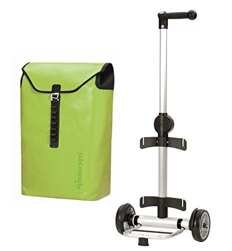 Andersen Unus Shopper Ortlieb Alu wasserdicht höhenverstellbar Einkaufstrolley (Limone - Grün)