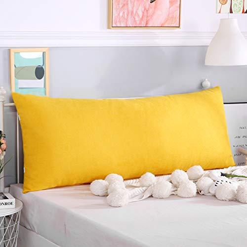 be Bett Keil Kissen Kissen,lumbale Pad Rückenlehne Positionierung Unterstützung Lesen Keil Kissen Mit Riemen Kopfteil Lange Kissen-zitronengelb Gelb 200x60x20cm(79x24x8inch) ()