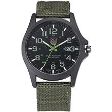 reloj de los hombres, FEITONG Hombres al aire libre Fecha Acero Inoxidable Militar Deportes del análogo de cuarzo reloj de pulsera Ejército