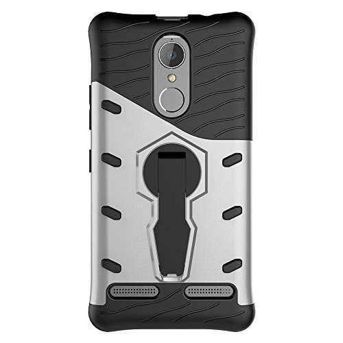 Für Lenovo K6 & K6 Power Armor Cover, 2 In 1 Durable TPU + PC Heavy Duty 360 ° Drehbarer Stand Dual Layer Shockproof Case Cover ( Color : Red ) Silver