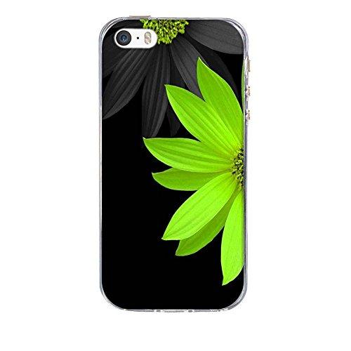 Custodia Apple iPhone 5 5S 5SE, Fubaoda iPhone 5 5S 5SE Bumper Case, Immagine vivida [super luna] Morbida Flessibile Estremamente TPU Gel Sottile Pelle Trasparente Antigraffio Protezione Cover per App pic: 08