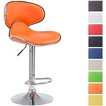 clp tabouret de bar las vegas v2 hauteur rglable sige pivotant 360 avec - Tabouret Bar Orange