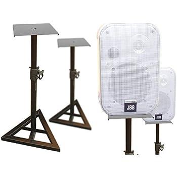2 Stück Boxenständer aus Metall Lautsprecherständer Satelliten Boxen Lautsprecher höhenverstellbar Kabelkanal Ständer Modell: BS12x2