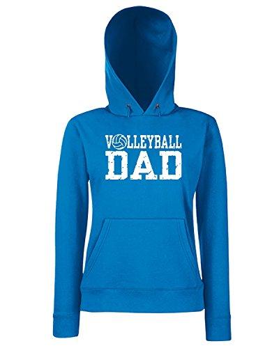 T-Shirtshock - Sweats a capuche Femme OLDENG00823 volleyball dad Bleu Royal