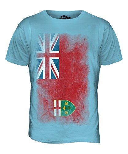 CandyMix Ontario Verblichen Flagge Herren T Shirt Himmelblau