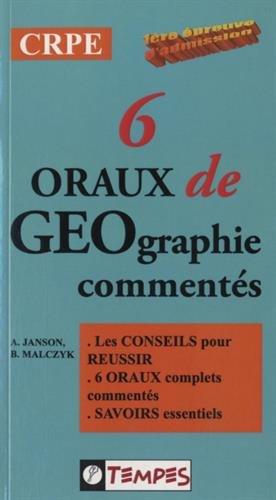 6 ORAUX DE GEOGRAPHIE comments