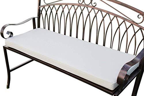 Gartenmöbel-Auflage - Auflage für 2-Sitzer-Metall-Gartenbank in Hellbeige -