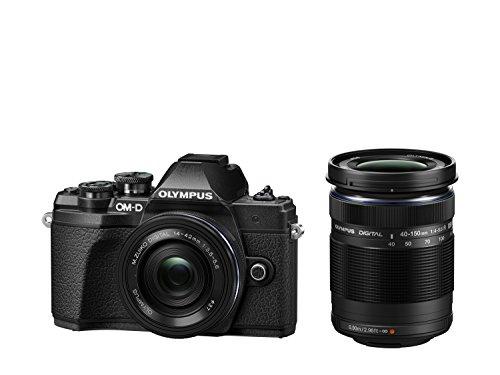 Olympus OM-D E-M10 Mark III Systemkamera - 16 Megapixel inkl. 14-42mm Objektiv silber + M. Zuiko Digital ED 40-150 mm Objektiv schwarz