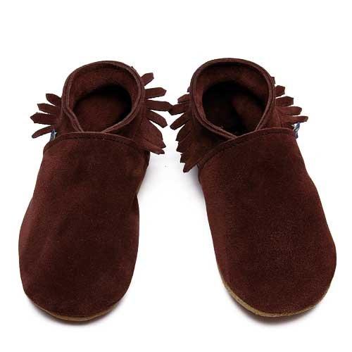Inch Blue - 1732 XL - Chaussures Bébé Souples - Mocassin - Daim Marron - T 22-23 cm