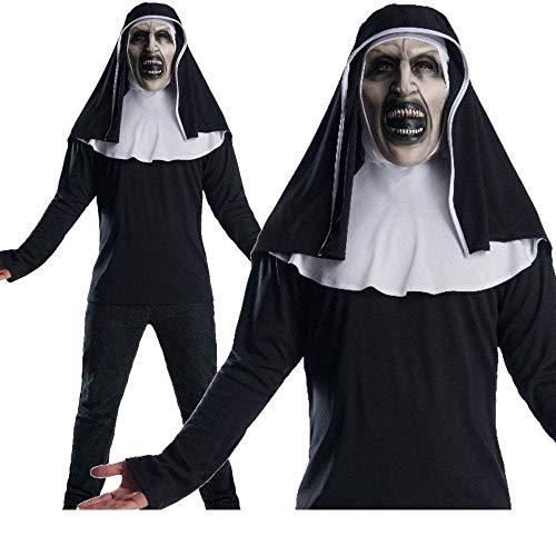 B-Creative New die Nun offizielle Conjuring Film Mens Kostüme Maske Halloween Fancy Kleid (die Nonne TOP & Maske/Standard)
