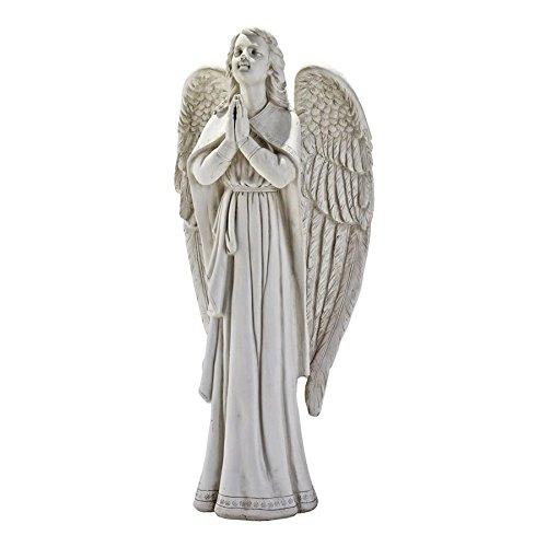 Design Toscano Göttliche Führung: Betender Engel, Gartenfigur: Mittel (Betender Engel-garten Statue)