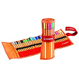 STABILO point 88 Penna Fineliner colori assortiti – Rollerset da 30