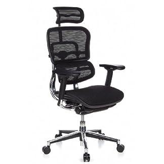 hjh OFFICE 652111 Ergohuman – Silla de oficina en malla negro