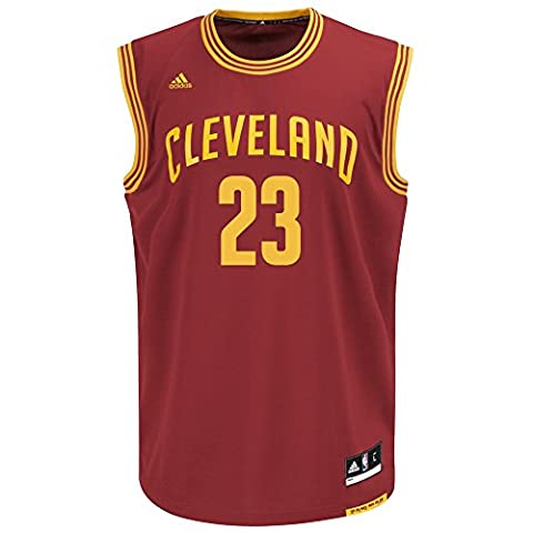Lebron James Cleveland Cavaliers NBA Adidas Men's Replica Jersey Maillot - Burgundy