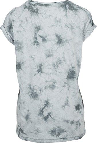 Urban Classic Ladies Batic Extended Shoulder Tee, T-Shirt Donna Mehrfarbig (Lightmint/Darkgrey 01309)