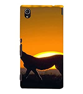 PrintVisa Animal Leopard Design 3D Hard Polycarbonate Designer Back Case Cover for Sony Xperia M4 Aqua