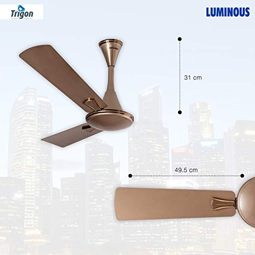 Luminous Deco Premium Trigon 1200mm Ceiling Fan (Sandstrom Gold)