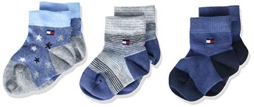 Tommy Hilfiger Jungen Socken TH Baby Newborn GIFTBOX 3P, 3er Pack, Pink (Midnight Blue 563), Neugeboren (Herstellergröße: 14)