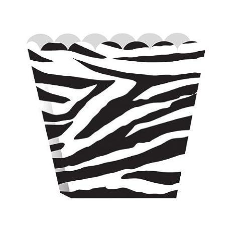 Zebra Print Party Treat Boxes Popcorn Style x 8