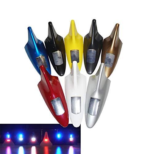 FangFang-Ge, 2019 Antenne Auto Radio Signal Antennen Dachantennen for alle Autos mit LED-Licht wie die Shack Fin (Color : Weiß)