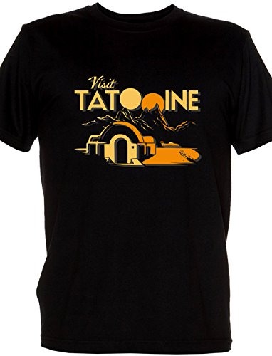 Renowned Ladies' Visit Tatooine - Star Wars Planet Post card black Large (15 Gift Card Xbox)