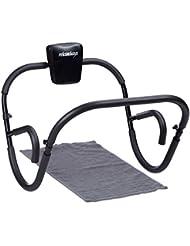 Relaxdays AB Roller Fitness Crunch Trainer appareil d'entraînement musculation maison muscles abdominaux HxlxP: 66 x 70 x 70 cm, noir