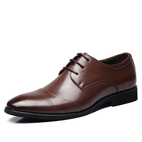 gli uomini sono scarpe, scarpe di cuoio, british puntata lace scarpe di cuoio Scarpe Marrone