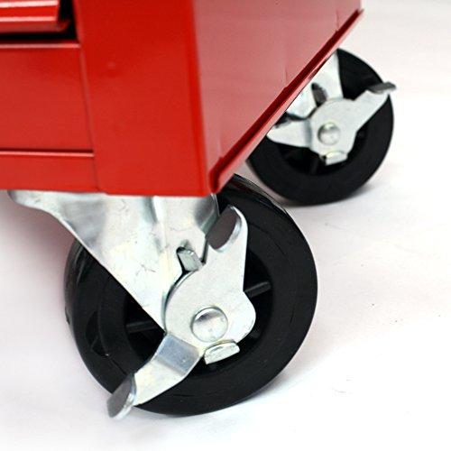 Werkstattwagen Werkzeugwagen Rollwagen mit Werkzeugkiste 5 Fächer Kugelgelagert Werkzeug - 5