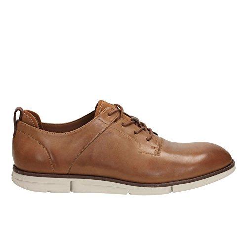 Clarks Détente Habillé Homme Chaussures Trigen Walk En Cuir Marron
