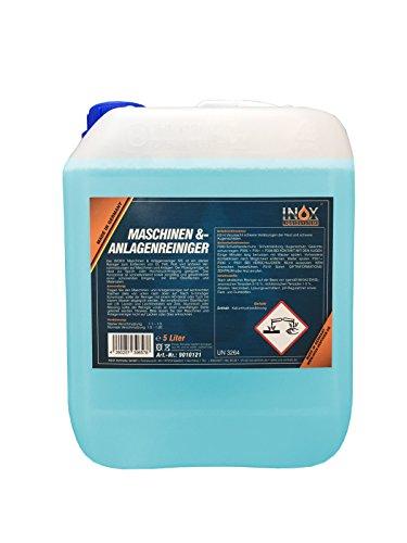 INOX® MS Maschinen- und Anlagenreiniger Konzentrat, effektives Reinigungsmittel zum Entfernen von Öl, Fett und Ruß - 5 Liter -