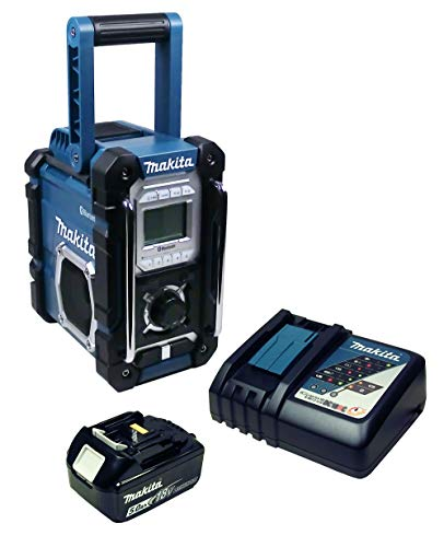 Makita DMR 108 Baustellenradio mit Bluetooth + Akku 5 Ah und Ladegerät