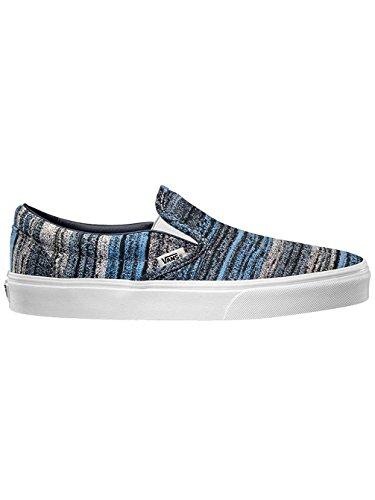 Vans Classic Slip-on +, Scarpe da Skateboard uomo blu italien weave blue (italian weave) blue