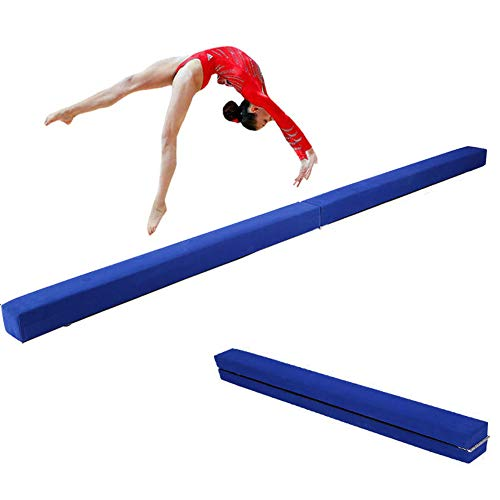Greensen Barra de equilibrio plegable para gimnasia, entrenamiento y equilibrio para niños o adultos, azul
