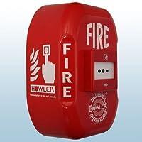 Howler FA16 - Pulsador de alarma de incendios (funciona con pilas, sirena de 118 dB)