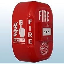 Howler FA16 - Pulsador de alarma de incendios (funciona con pilas, sirena de 118