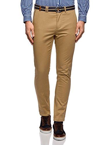 oodji Ultra Uomo Pantaloni Basic in Cotone, Beige, IT 52 / EU 48 (XL)