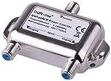 DUR-Line DPI - Power Inserter – 18V Einspeise-Weiche mit F-Anschluss für Sat Unicable dCSS SCR LNBs & Schalter – [Spannungseinspeise-Adapter, Fernspeiseweiche, Stromeinspeiseweiche]