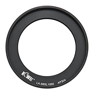 Kiwifotos 58mm Lens Filter Adapter Ring for Fujifilm FinePix S8200, S8300, S8400, S8400w, S8500, S9150, S9200, S9250, S9400W, S9450W, SL1000