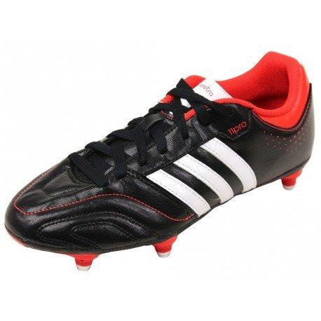 Adidas , Herren Fußballschuhe - black, - NOIR/ROUGE/BLANC - Größe: 2 UK / 40 EU