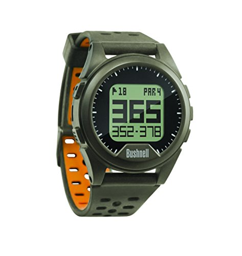 Bushnell Unisex Compact Neo Ion Preloaded Worldwide Mapping Golf Watch, Charcoal/Orange